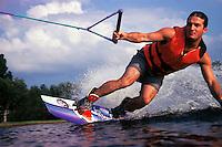 Man waterboarding.