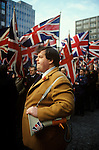 Martin Webster of the National Front leading the NF rally to the Cenotaph on Armistice Day 1977. 1970s. UK