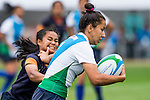 Uzbekistan plays Thailand during the17th Asian Games 2014 Rugby Womens Sevens tournament on October 02, 2014 at the Namdong Asiad Rugby Field in Incheon, South Korea. Photo by Alan Siu / Power Sport Images