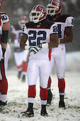 December 16th, 2007:  Buffalo Bills running back Fred Jackson (22) takes a break during the action vs the Cleveland Browns at Cleveland Browns Stadium in Cleveland, Ohio.  The Browns shutout the Bills 8-0 to inch closer to clinching a playoff spot.  Photo copyright Mike Janes Photography 2007.