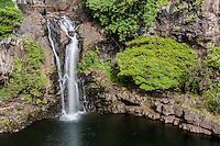 A waterfall and pool at Seven Sacred Pools (or 'Ohe'o Gulch), Haleakala National Park, Maui.