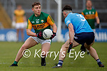 Kieran Fitzgibbon, Kerry in action against David Byrne, Dublin during the Allianz Football League Division 1 South between Kerry and Dublin at Semple Stadium, Thurles on Sunday.