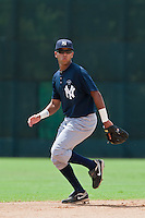Shortstop Cito Culver of the Gulf Coast League Yankees at the ESPN Wide World of Sports Complex in Orlando, Florida July 23 2010. Culver was the New York Yankees 1st round pick (32nd overall) of the 2010 MLB Draft. Photo By Scott Jontes/Four Seam Images