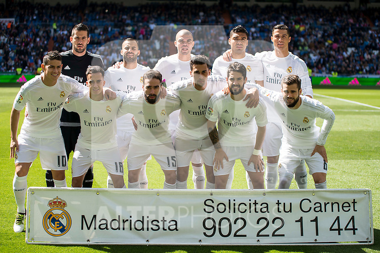 Real Madrid's players during La Liga match. April 09, 2016. (ALTERPHOTOS/Borja B.Hojas)