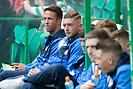 Celtic v St Johnstone …26.08.17… Celtic Park… SPFL<br />Chris Millar watches the saints players during warm-up<br />Picture by Graeme Hart.<br />Copyright Perthshire Picture Agency<br />Tel: 01738 623350  Mobile: 07990 594431
