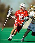 30 April 2011: Stony Brook Seawolves' midfielder Jared LeVerne, a Junior from Jericho, NY, in action against the University of Vermont Catamounts on Moulton Winder Field in Burlington, Vermont. The Catamounts fell to the visiting Seawolves 12-9 to conclude their America East season. Mandatory Credit: Ed Wolfstein Photo