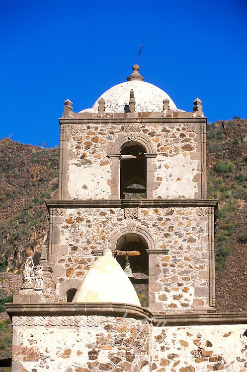 Mexico, Baja California Sur, San Javier, Mission San Javier de Vigge, Bell Tower