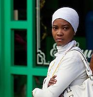 Cuba, Havana.  Afro-Cuban Santeria Adherent.