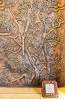 Nanjing, Jiangsu, China.  QR Code by Copper Wall Engraving, Usnisa Palace, Niushou Mountain.