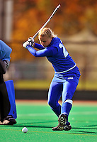 24 October 2008: Hofstra University Pride defenseman Erica Suitch, a Senior from Mountaintop, PA, in action against the University of Vermont Catamounts at Moulton Winder Field, in Burlington, Vermont. The Catamounts shut out the visiting Pride 3-0...Mandatory Photo Credit: Ed Wolfstein Photo