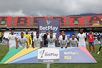 PASTO - COLOMBIA,20-09-2020:Jugadores de Jaguares de Córdoba posan para una foto previo al partido entre Deportivo Pasto  y Jaguares de Córdoba por la fecha 9 de la Liga BetPlay DIMAYOR I 2020 jugado en el estadio La Libertad de la ciudad de Pasto. / Players of Jaguares of Cordoba pose to a photo prior the match between Deportivo Pasto and Jaguares of Cordoba for the date 9 BetPlay DIMAYOR League I 2020 played at La Libertad stadium in Pasto city. Photo: VizzorImage / Leonardo Castro / Cont