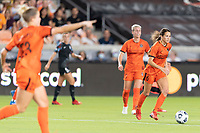 HOUSTON, TX - SEPTEMBER 10: Shea Groom #6 of the Houston Dash brings the ball up the field during a game between Chicago Red Stars and Houston Dash at BBVA Stadium on September 10, 2021 in Houston, Texas.