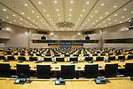 Sala de sesiones del Parlamento Europeo en Bruselas. Diciembre 4, 2017. PHOTO CREDIT © DELMI ALVAREZ