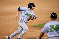 Lynchburg Hillcats second baseman Dillon Persinger (38) runs the bases during the second game of a doubleheader against the Frederick Keys on June 12, 2018 at Nymeo Field at Harry Grove Stadium in Frederick, Maryland.  Frederick defeated Lynchburg 8-1.  (Mike Janes/Four Seam Images)