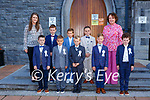 Pupils from Castleisland Boys NS after their First Holy Communion  in St Stephan and John church Castleisland on Saturday
