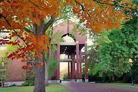 Agricultural and Life Sciences building with fall color. Oregon State University.
