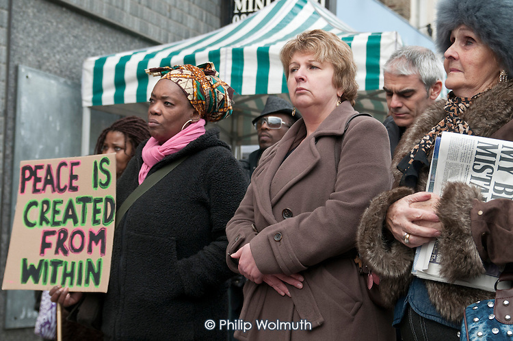 Karen Buck MP, Community Rally organised by the Tell It Parents' Action Group to launch a campaign aimed at addressing the problem of gang violence in North Westminster.