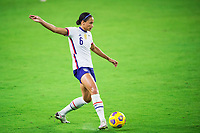 ORLANDO, FL - JANUARY 18: Lynn Williams #6 of the USWNT kicks the ball during a game between Colombia and USWNT at Exploria Stadium on January 18, 2021 in Orlando, Florida.