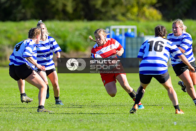 NELSON, NEW ZEALAND - Woman's Rugby: Riwaka v Waimea. Cooks Reserve, Riwaka, Saturday 17, April 2021. Nelson, New Zealand. (Photos by Barry Whitnall/Shuttersport Limited)