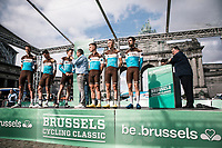 Team AG2R La Mondiale at the pre race team presentation.<br /> <br /> 99th Brussels Cycling Classic 2019<br /> One Day Race: Brussels > Brussels 189.4km<br /> <br /> ©kramon