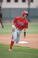 Philadelphia Phillies Chandler Hall (18) runs the bases during a minor league Spring Training game against the Pittsburgh Pirates on March 24, 2017 at Carpenter Complex in Clearwater, Florida.  (Mike Janes/Four Seam Images)
