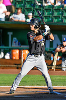 Billy Endris (26) of the Missoula Osprey at bat against the Ogden Raptors in Pioneer League action at Lindquist Field on July 14, 2016 in Ogden, Utah. Ogden defeated Missoula 10-4. (Stephen Smith/Four Seam Images)