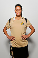 Christina DiMartino of FC Gold Pride during the unveiling of the Women's Professional Soccer uniforms at the Event Place in Manhattan, NY, on February 24, 2009. Photo by Howard C. Smith/isiphotos.com
