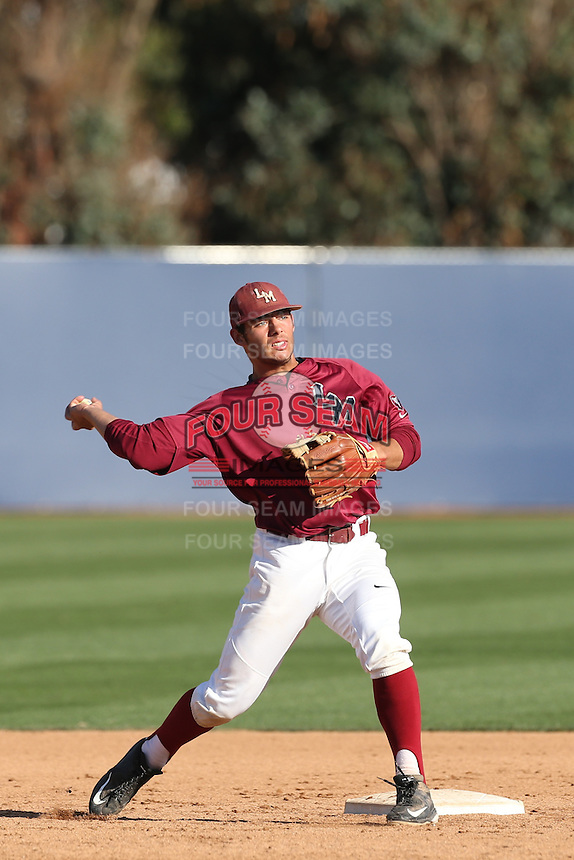 David Fletcher (24) of the Loyola Marymount Lions takes infield before  a game against the Gonzaga Bulldogs at Page Stadium on March 27, 2015 in Los Angeles, California. Loyola Marymount defeated Gonzaga 6-5.(Larry Goren/Four Seam Images)