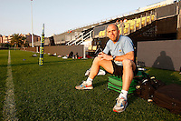 Photo: Richard Lane/Richard Lane Photography. London Wasps in Abu Dhabi for their LV= Cup game against Harlequins on 30st January 2011. 29/01/2011. Wasps' physio, Mark Baker at training.