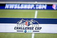 HERRIMAN, UT - JUNE 30: Utah Challenge Cup Banner during a game between Utah Royals FC and Houston Dash at Zions Bank Stadium on June 30, 2020 in Herriman, Utah.