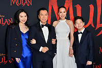 """LOS ANGELES, CA: 09, 2020: Donnie Yen & Family at the world premiere of Disney's """"Mulan"""" at the El Capitan Theatre.<br /> Picture: Paul Smith/Featureflash"""