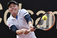 BOGOTA -COLOMBIA. 14-04-2017. Johanna Larsson (SWE) durante juego de semifinal contra Francesca Schiavone (ITA) del Claro Open Colsanitas WTA 2017 jugado en el Club Los Lagartos en Bogota. /  Johanna Larsson (SWE) during match against Francesca Schiavone (ITA) for the semifinal of Claro Open Colsanitas WTA 2017 played at Club Los Lagartos in Bogota city. Photo: VizzorImage/ Gabriel Aponte / Staff