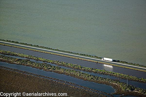 aerial photograph highway 37, Napa County, California