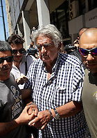 Pictured: Tharsivoulos Lykourezos (C), the captain of the speedboat arrives with police officers at Piraeus Court.<br /> Re: Tharsivoulos Lykourezos, the captain of a speedboat that collided with a tourist boat off the Greek island of Aegina, leaving four people dead, has appeared in court and was given until Friday to prepare his defense.<br /> Relatives of the victims shouted insults and were held back by police as the 77-year-old arrived at the courthouse in Greece's main port city of Piraeus.<br /> The speedboat called Duente collided Tuesday with a tourist boat called Antonia carrying more than 20 people from the island to a beach on a nearby islet. The dead included a 5-year-old girl and her father. Authorities initially said the child was about 9.<br /> The health ministry says 16 people in all were hurt, with five requiring hospital treatment. Two suffered serious injuries, including a woman whose leg was partially severed.