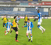 19th December 2020 The John Smiths Stadium, Huddersfield, Yorkshire, England; English Football League Championship Football, Huddersfield Town versus Watford; Mouhamadou-Naby Sarr heads clear in the second half