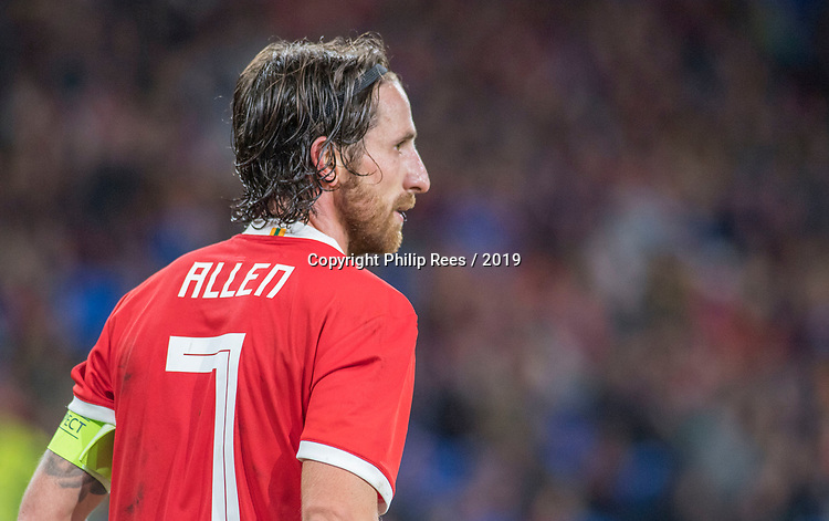 Cardiff - UK - 9th September :<br />Wales v Belarus Friendly match at Cardiff City Stadium.<br />Wales Captain Joe Allen.<br />Editorial use only