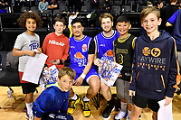 Rangimarie Mita of the Wellington Saints and Isaac Miller-Jose of the Wellington Saints, NBL - Wellington Saints v Manawatu Jets at TSB Bank Arena, Wellington, New Zealand on Sunday 13 June 2021.<br /> Photo by Masanori Udagawa. <br /> www.photowellington.photoshelter.com