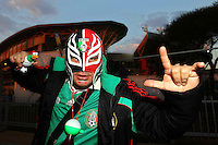 Fans of Mexico outside the Peter Mokaba stadium before the game against France .