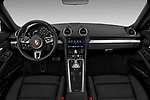 Stock photo of straight dashboard view of a 2018 Porsche 718 Cayman S 2 Door Coupe