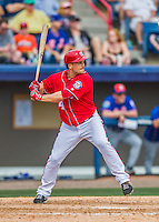 3 March 2016: Washington Nationals outfielder Chris Heisey in action during a Spring Training pre-season game against the New York Mets at Space Coast Stadium in Viera, Florida. The Nationals defeated the Mets 9-4 in Grapefruit League play. Mandatory Credit: Ed Wolfstein Photo *** RAW (NEF) Image File Available ***