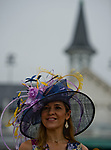 LOUISVILLE, KY - MAY 05: A woman wears a fancy hat on Kentucky Derby Day at Churchill Downs on May 5, 2018 in Louisville, Kentucky. (Photo by Scott Serio/Eclipse Sportswire/Getty Images)