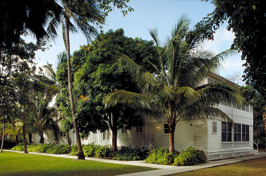 """Former President Harry S. Truman's """"""""Little White House""""""""in Key West, Florida. It was part of a U.S. Naval Base and was built circa 1890. architecture, landmarks. Key West Florida, Florida Keys."""