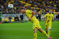 Wellington's Tomer Hemed scores the third goal during the A-League football match between Wellington Phoenix and Western United FC at Sky Stadium in Wellington, New Zealand on Saturday, 22 May 2021. Photo: Dave Lintott / lintottphoto.co.nz
