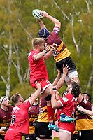 Billy JOHNSON (6) of Ampthill during the Greene King IPA Championship match between Ampthill RUFC and Jersey Reds at Dillingham Park, Ampthill, England on 1 May 2021. Photo by David Horn.