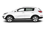 Car Driver side profile view of a 2014 KIA SPORTAGE Sense 5 Door SUV 2WD Side View