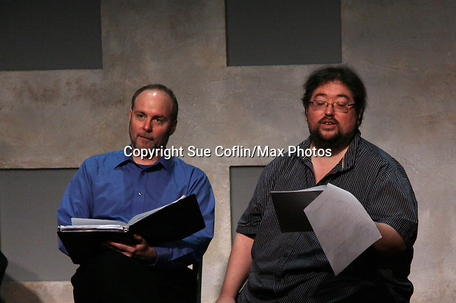 """Richard Kent Green & Scott Sickles (One Life To Live)  in """"Verbatim Verboten - NYC"""" on October 18, 2010 at the WorkShop Theater, NYC. (Photo by Sue Coflin/Max Photos)"""