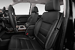 Front Seat view of 2015 GMC Sierra 2500 SLT Stock Photo