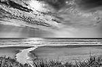 Ocean Beach located north of Macquarie Head and Hells Gates new Strahan on the West Coast of Tasmania, Australia.