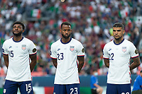 DENVER, CO - JUNE 6: Mark McKenzie, Kellyn Acosta, DeAndre Yedlin, of the United States during a game between Mexico and USMNT at Mile High on June 6, 2021 in Denver, Colorado.