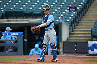 Brandon Martorano (4) of the North Carolina Tar Heels stands on the field during the game against the Boston College Eagles in Game Five of the 2017 ACC Baseball Championship at Louisville Slugger Field on May 25, 2017 in Louisville, Kentucky. The Tar Heels defeated the Eagles 10-0 in a game called after 7 innings by the Mercy Rule. (Brian Westerholt/Four Seam Images)